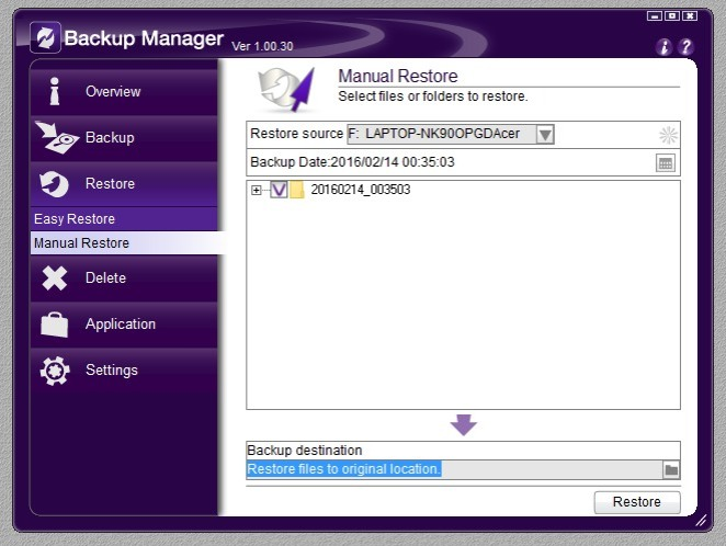 Backup Manager 06