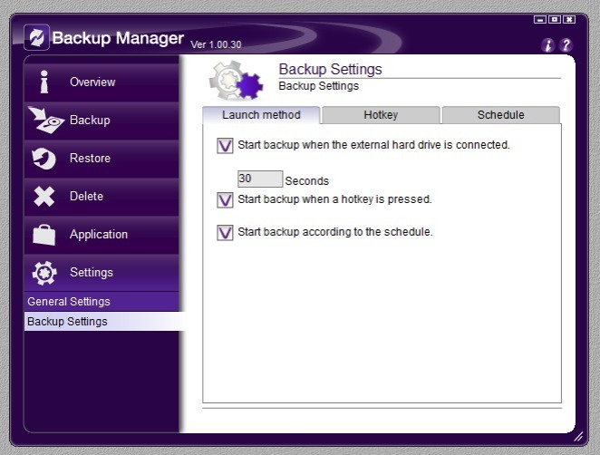 Backup Manager 10