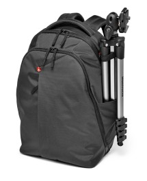 Manfrotto NX front view tripod mounted